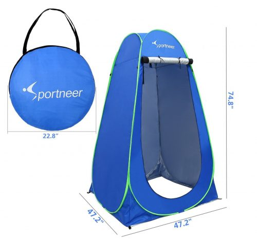 8.Sportneer-Pop-Up-Changing-Tent-6.25Ft-Dressing-Room-Outdoor-Privacy-Shelter-for-Camping-Photo-Shoot-Shower-Toilet-WCarrying-Bag