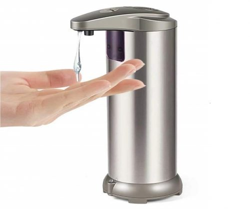 1.YiShuo-Automatic-Soap-Dispenser-with-Waterproof-Base-Premium-Fingerprint-Resistant-Brushed-Stainless