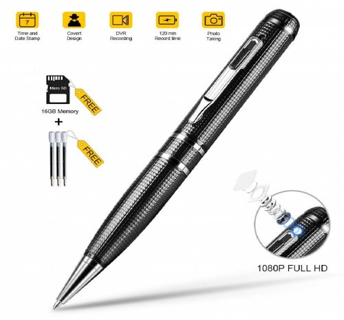 10.Hidden-Camera-PenSpy-Camera-with-Video-16GB-Memory-and-120-Mins-of-Recordings-Time-1080P-HD-Covert-Cam-with-3-Replaceable-Ink-Refills-for-BusinessDaily..