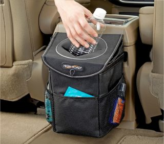 11.High-Road-StashAway-Car-Trash-Can-with-Lid-and-Storage-Pocket