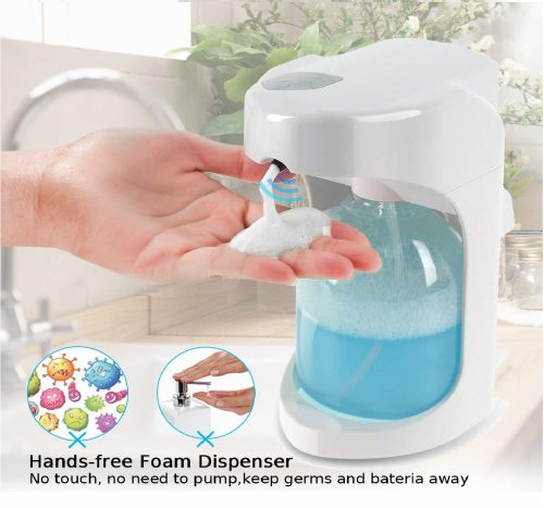 11.Lantoo-Foaming-Automatic-Soap-Dispenser-Hands-free-Automatic-Foam-Soap-Dispenser-for-Bathroom-Kitchen-16oz-Capacity-Adjustable-Foam-Control-Wall