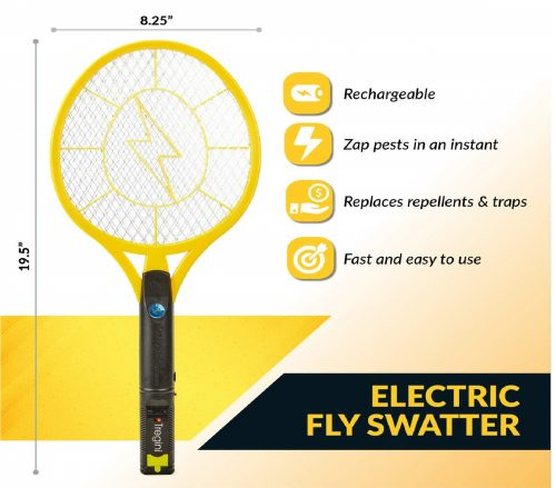 12Tregini-Large-Electric-Fly-Swatter-2-Pack-–-Rechargeable-Bug-Zapper-Tennis-Racket-with-Safe-to-Touch-Mesh-Net-and-Built-in-Flashlight-Kills-Insects-Gnats.