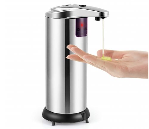 3.Cakie-Soap-Dispenser-Touchless-Automatic-Soap-Dispenser-Infrared-Motion-Sensor-Stainless-Steel-Dish-Liquid-Hands-Free