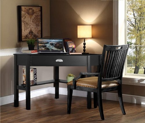 Tangkula Corner Solid Wood Computer Table with Drawers, Best Modern Computer Desk