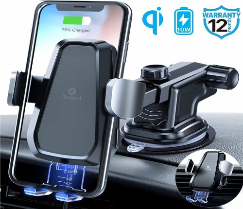7.Andobil-Fast-Wireless-Car-Charger-Mount-Kit-One-Touch-Automatic-Clamping-Qi-Cell-Phone-10W-Power-Charging-Air-Vent-Dashboard-Holder-Compatible-iPhone-X-Xs