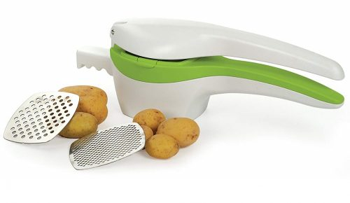 1. RSVP Potato Ricer and Baby Food Strainer, White and Green with Interchangeable Disks (SPUD)