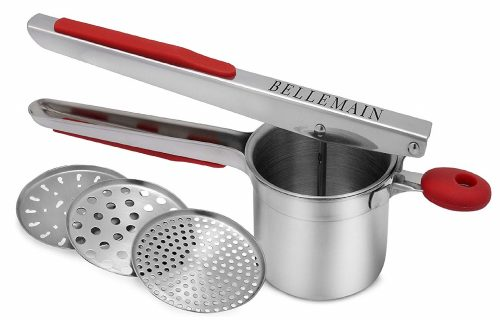 2. Top Rated Bellemain Stainless Steel Potato Ricer with 3 Interchangeable Fineness Discs-Full