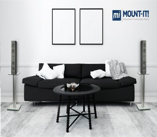 5.Mount-It-23-Tall-Bookshelf-Speaker-Stands-Satellite-Speakers-and-Surround-Sound-Systems-Glass-and-Aluminum-Silver-MI-58SLVR