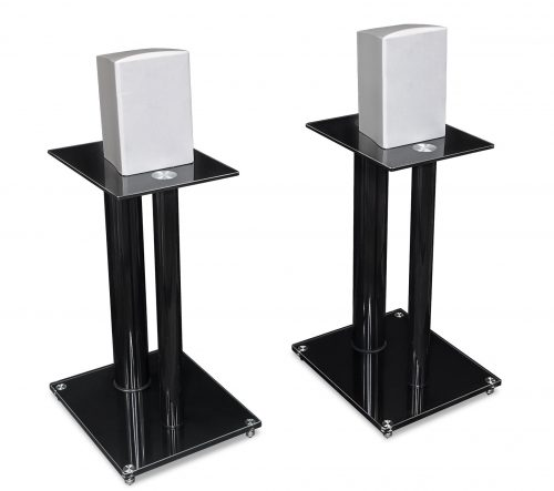 7.Mount-It-Speaker-Stands-for-Book-Shelf-and-Surround-Sound-Speakers-Universal-Fit-Premium-Dual-Pillar-Aluminum-and-Tempered-Glass-Black-MI-28