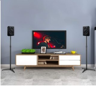 8.PERLESMITH-Adjustable-Height-Speaker-Stands-Extends-30-to-45-Hold-Satellite-Small-Bookshelf-Speakers-Weight-up-to-8lbs-Heavy-Duty-Floor-Stands-fo