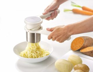 9. Joseph Joseph 20100 Helix Potato Ricer Masher Ergonomic Twist-Action Hand Manual Stainless Steel For Mashed Potato