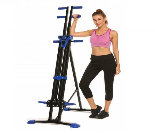 3.Hurbo Vertical Climber Home Gym Exercise Folding Climbing Machine Exercise Bike for Home Body Trainer Stepper Cardio Workout Training Non-Stick Grips Legs
