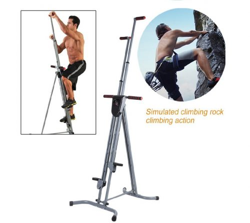 7.Homgrace Vertical Climber Cardio Exercise, Total Body Workout Climber Machine, Folding Climbing Machine with Resistance for Home Gym Step Climber (Grey)