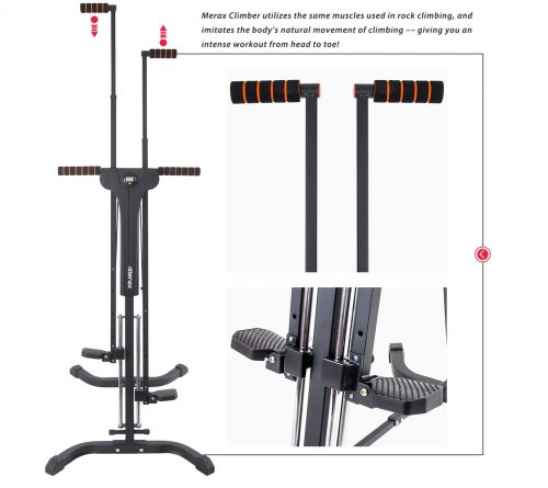 8.Merax Vertical Climber Fitness Climbing Cardio Machine Full Total Body Workout Fitness Folding Climber 2.0 (Black)