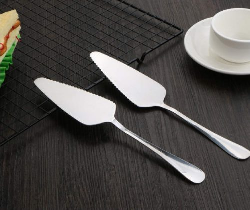 9.STONCEL Pack of 5 Stainless Steel Pie Cake Server with Mirror Finished Onside with Fine Serrated Edge
