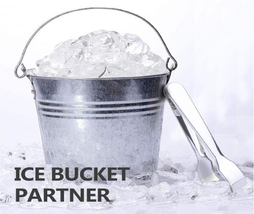 9.TRUSBER Ice Tongs for Ice Bucket, Stainless Steel Food Serving Tongs, with Claw Grip Teeth 6.7 Inches Perfect for Block Ice Sugar Cubes Bar Hotel Home