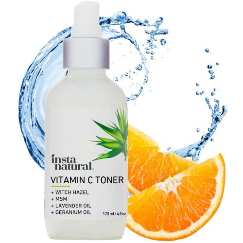 1. InstaNatural Vitamin C Facial Toner - Anti Aging Face Spray with Witch Hazel - Pore Minimizer & Calming Skin Treatment for Sensitive, Dry & Combination Types
