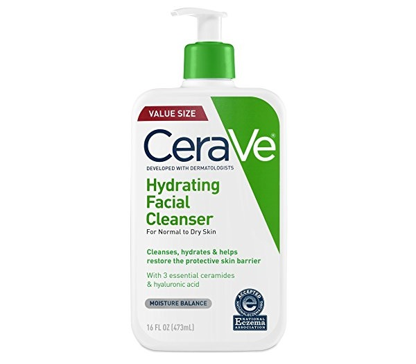 1.CeraVe Hydrating Face Wash 16 Ounce Daily Facial Cleanser for Dry Skin Fragrance Free