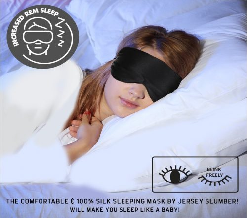 1.Jersey Slumber 100% Silk Sleep Mask For A Full Night's Sleep Comfortable & Super Soft Eye Mask With Adjustable Strap Works With Every