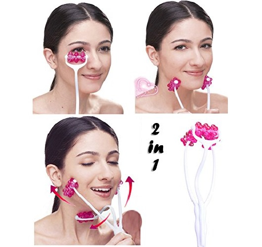 10.Face Roller Massager for Face Tightening and Lifting, 2 In 1 Face Massage Roller Double Chin Remover, Face Slimming Massager Neckline Slimmer Jaw Exerciser