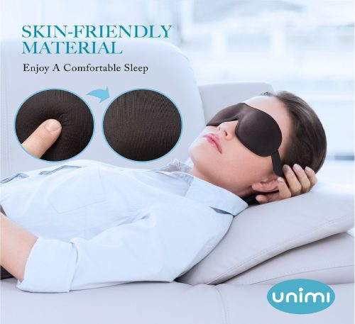 12.Eye Mask for Sleeping,Unimi Sleep Mask for Men Women, Block Out Light,Comfort and Lightweight 3D Eye Cover,Pressure-Free Eye Shades for Travel,Shift Work,Naps,Night Blindfold (Black)