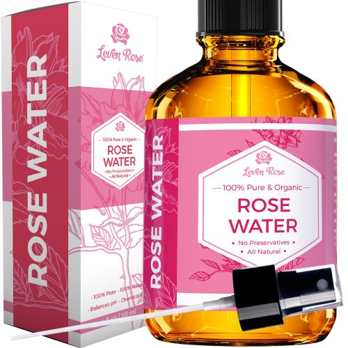 2. Rose Water Facial Toner by Leven Rose, Pure Natural Moroccan Rosewater Hydrosol Face Spray 4 oz
