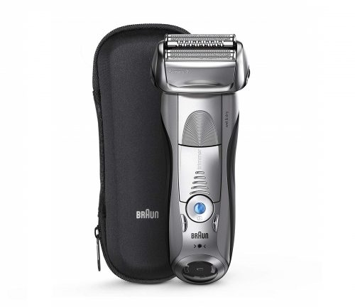 2.Braun Series 7 Electric Shaver for Men 7893s, Wet & Dry, Integrated Precision Trimmer, Rechargeable and Cordless Razor, with Travel Case – Silver
