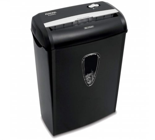 4.Aurora AS890C 8-Sheet Cross-Cut PaperCredit Card Shredder with Basket