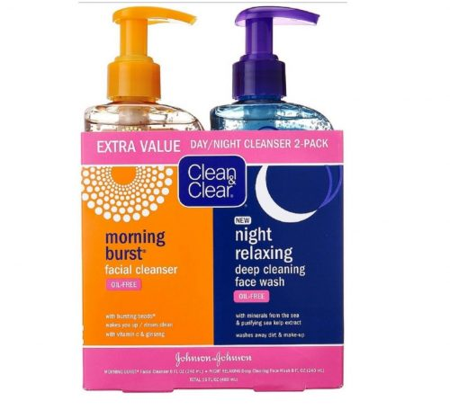 4.Clean & Clear 2-Pack Day and Night Face Cleanser Citrus Mornin