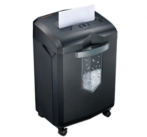 5.Bonsaii EverShred C149-C 18-Sheet Heavy Duty Cross-Cut PaperCDCredit Card Shredder with 6 Gallon Pullout Basket and 4 Casters, 60 Minutes Running Time, Black