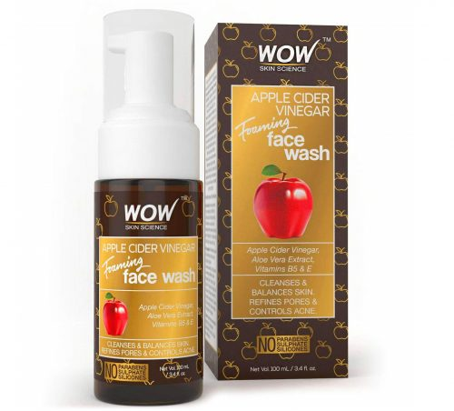 5.WOW Apple Cider Vinegar Foaming Face Wash Cleanser - Normal, Dry & Oily Skin - Heal