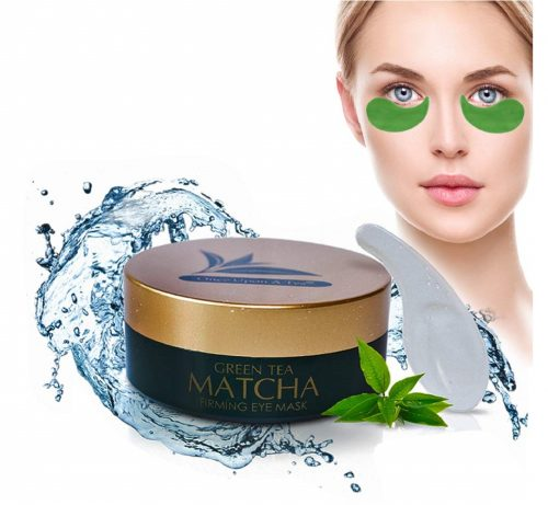 7.Green Tea Matcha Firming Eye Mask, Best Collagen Patches For Fine Lines, Wrinkles, Under Eye Bags & Puffy Eyes Treatment, Face Anti-Aging