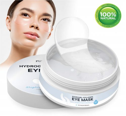 8.Hydrogel Collagen Eye Mask by Puriderma - Collagen Anti-Aging Under Eye Patches, Reduce Wrinkles, Fine Lines, Puffiness, Crow's Feet, Dark Circles