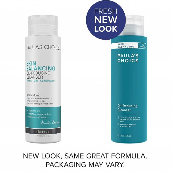 9.Paula's Choice SKIN BALANCING Oil-Reducing Cleanser with Aloe, Face Wash for Oily Skin & Large Pores, 16 Ounce