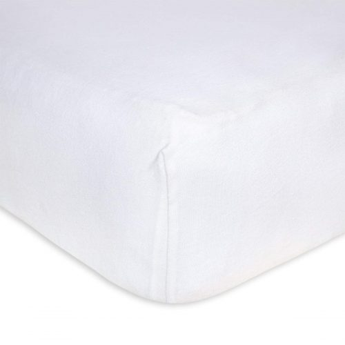 10. Fitted Crib Sheet, Solid Color, 100% Organic Cotton Crib Sheet for Standard Crib