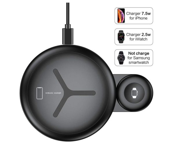 9. 2 in 1 Wireless Charger FLOVEME 10W Wireless Charging Pad Qi Fast Wireless