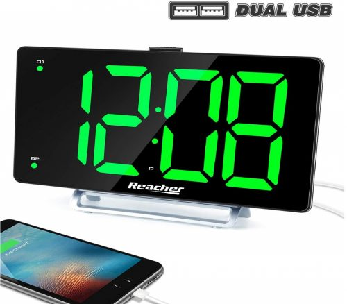 12.Large Alarm Clock 9 LED Digital Display Dual Alarm