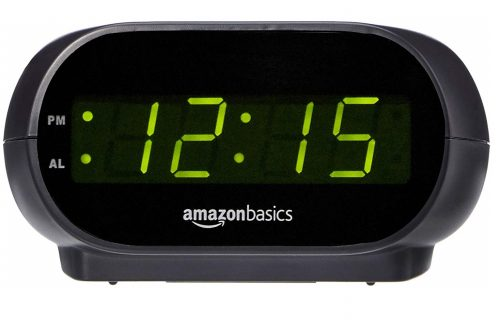 15.AmazonBasics Small Digital Alarm Clock