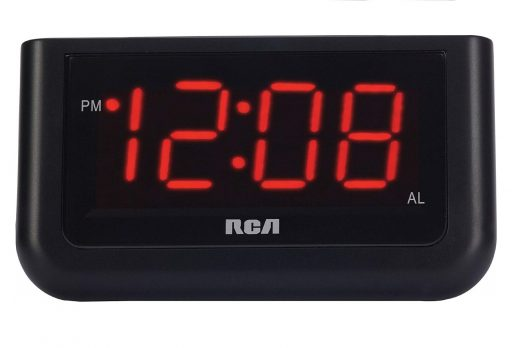 2.RCA Digital Alarm Clock with Large
