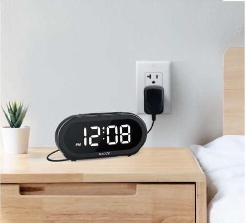 9.USCCE Small LED Digital Alarm Clock with Snooze