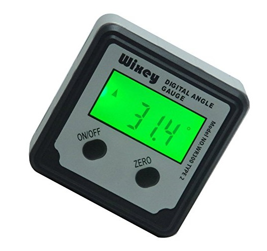 1.Wixey WR300 Type 2 Digital Angle Gauge with Backlight