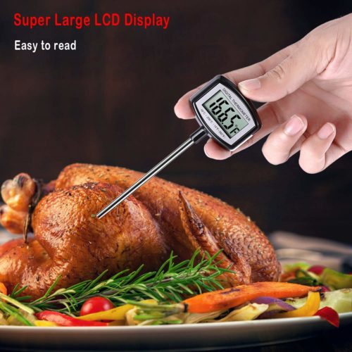 10.Large LCD Meat Thermometer - 5.3 Inches Super Long Probe