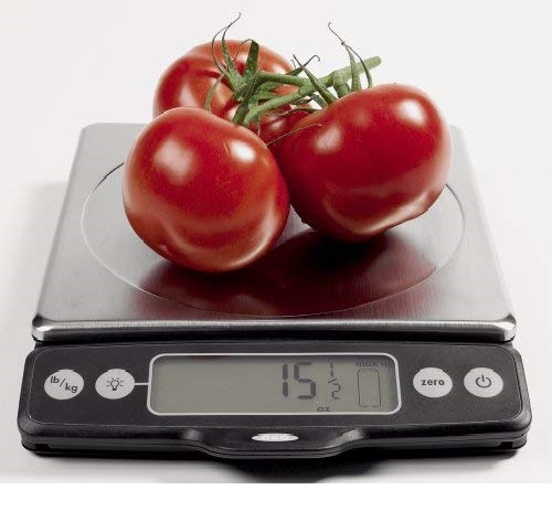 10.OXO Good Grips Stainless Steel Food Scale with Pull-Out Display