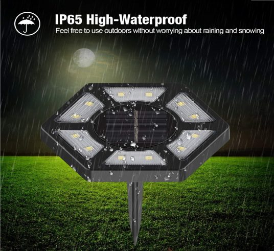 10.Solar Ground Lights,12 LED Garden Lights Solar Powered Patio Outdoor Lights Waterproof