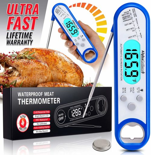 11.Instant Read Meat Thermometer for Grill and Cooking. Best Waterproof
