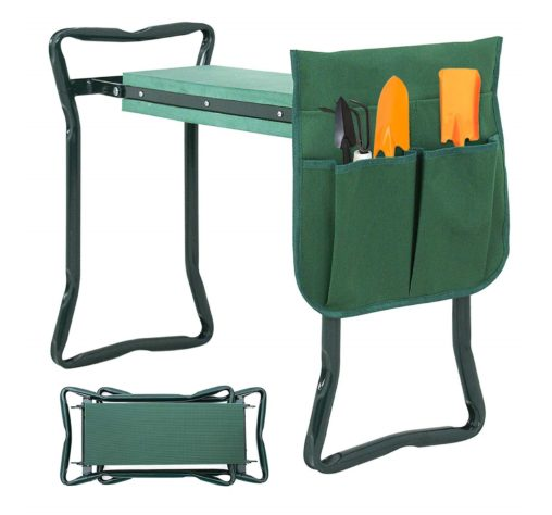 12.Newest Folding Garden Kneeler and Seat with Free Tool Pouches