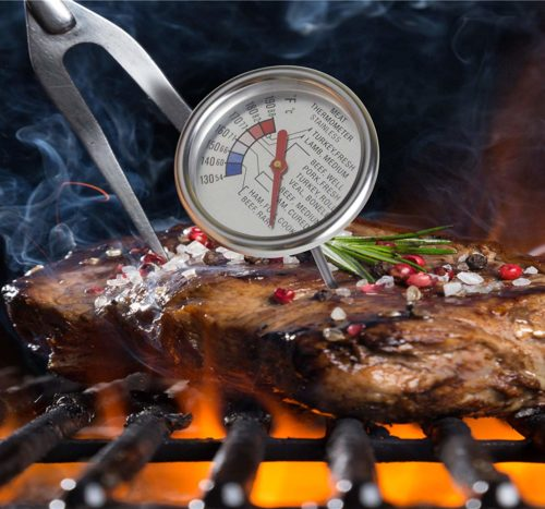 12.Roasting Meat Thermometer T729E,Stainless Steel Classic