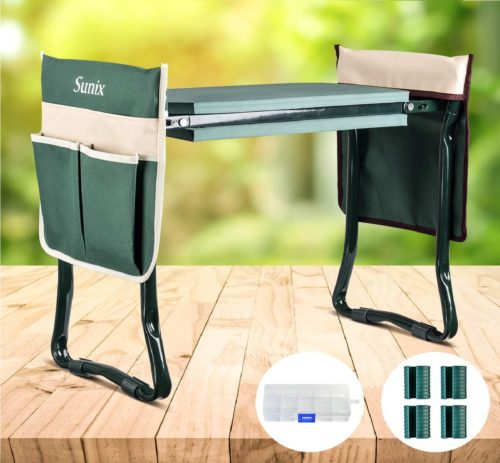 13. Folding Garden Kneeler and Seat, with 2 Free Tool Pouch
