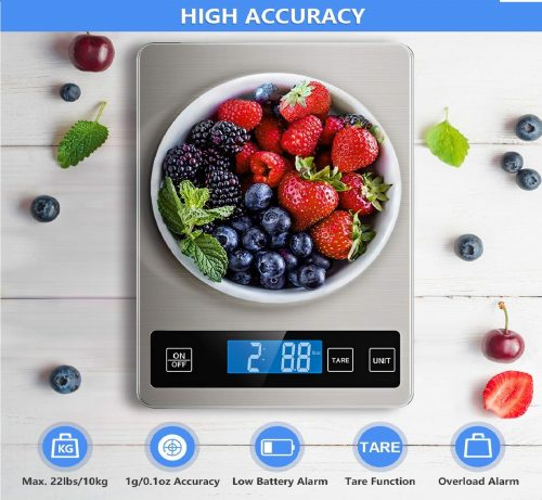 14.Food Scale, 22lb Digital Kitchen Scale Weight Grams