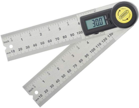 3.Digital Angle Finder Rule, 5-Inch